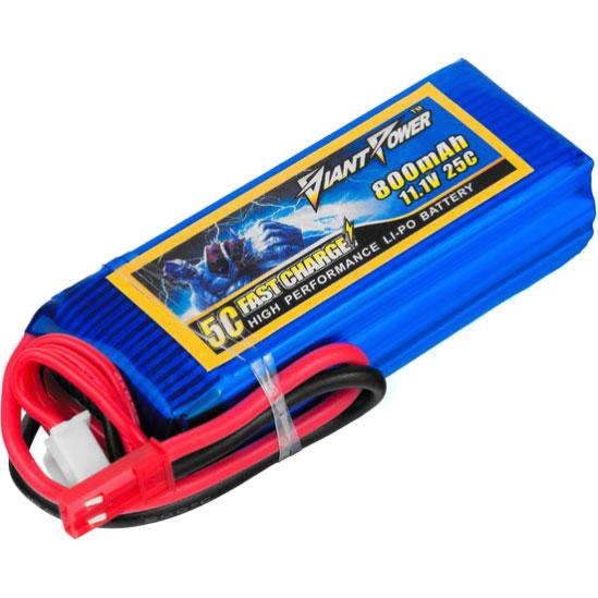 Акумулятор DINOGY Li-Pol 800mAh 11.1 V 3S 25C JST (DLC-3S800C-JST)
