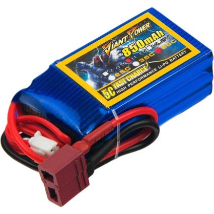 Аккумулятор DINOGY Li-Pol 850mAh 11.1V 3S 50C T-Plug