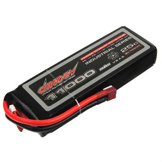 Акумулятор DINOGY Li-Pol 11000mAh 14.8 V 4S 25C T-Plug (DLC-4S11000C-T)