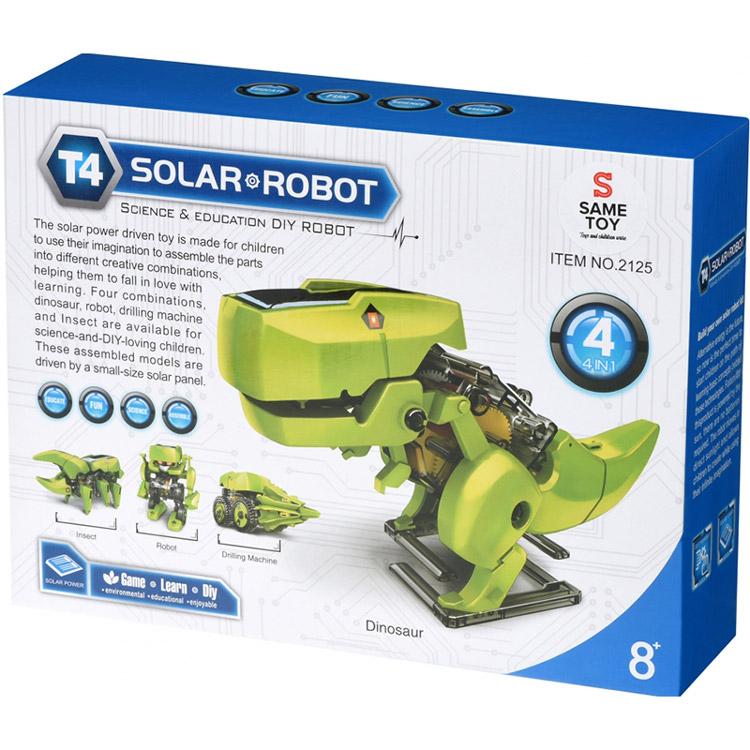 Робот-конструктор SAME TOY Динобот 4 в 1 (2125UT) Питание сонячна батарея