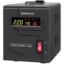 Стабилизатор напряжения REAL EL STAB ENERGY-500 Black (EL122400011)