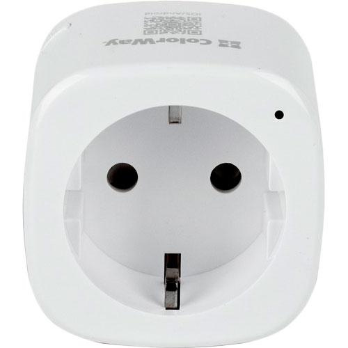 Умная розетка COLORWAY Wi-Fi CW-SP1A-PT