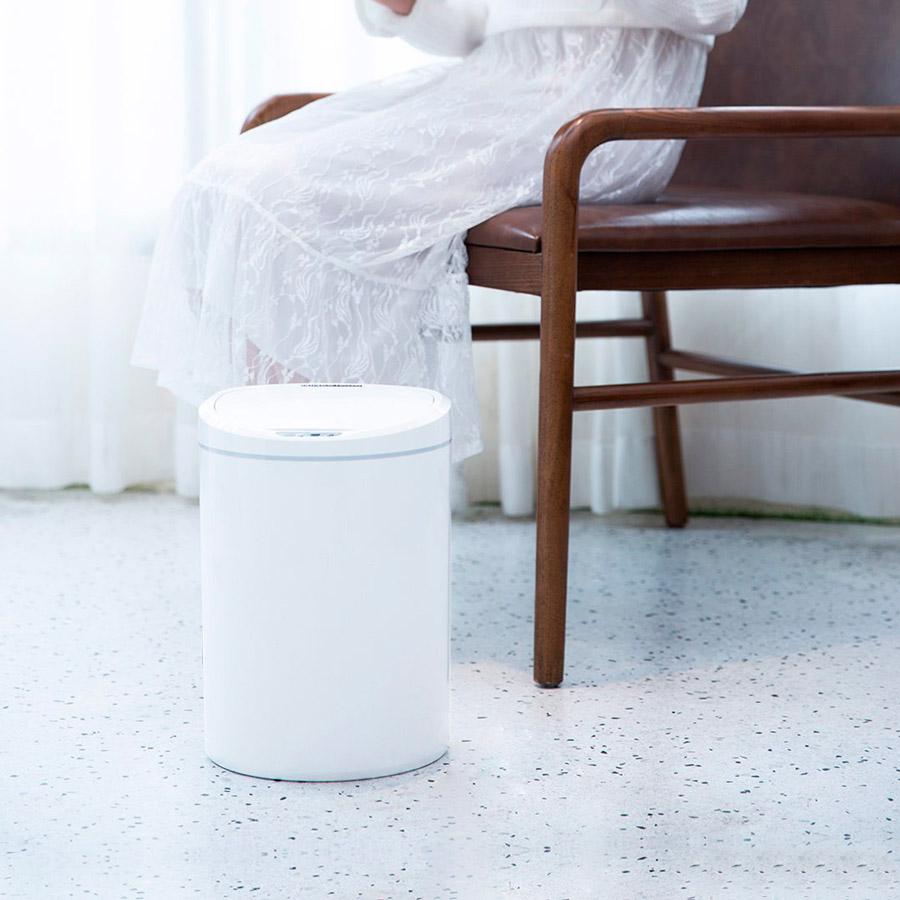 Умная корзина для мусора Ninestars Sensor Trash Can (DZT-10-29S) Дополнительно автоматическое открытие и закрытие крышки, встроенный дисплей, настройка работы, эффективная «блокировка» неприятных запахов