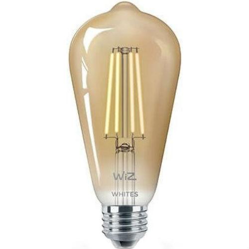 Умная лампочка WIZ Smart LED WiFi ST64 E27 DW FA Q Warm Dimmable Filament (WZE21016411-A)