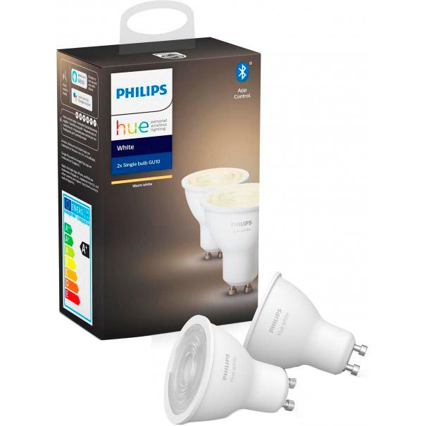 Комплект ламп PHILIPS Hue GU10 White BT DIM 2 шт (929001953506) Тип лампочка