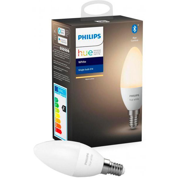 Умная лампа Philips Hue E14 5.5 W (40Вт) 2700K White Bluetooth димируемая (929002039903) Тип лампочка