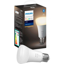 Розумна лампа Philips Hue Single Bulb E27 9W (60 Вт) 2700K White Bluetooth діміруемая (929001821618)