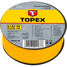 Шнур каменщика разметочный Topex 1.5 мм (13A910)