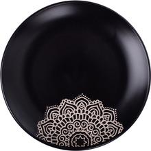 Тарелка обеденная LIMITED EDITION Kora 25 см Black (JH5277S-1)
