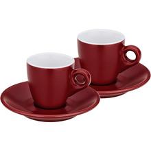 Набор чашек с блюдцем KELA Mattia 4 шт красный (12752)