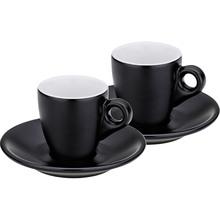 Набор чашек с блюдцем KELA Mattia 4 шт черный (12750)