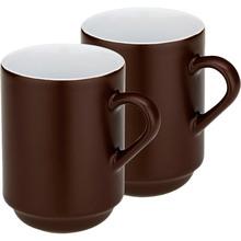 Набор чашек KELA Mattia 2 шт коричневый (12758)