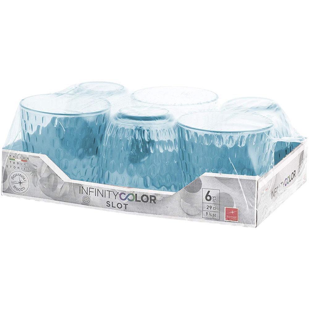 Набор стаканов BORMIOLI ROCCO Slot 6x290 мл Lively Blue (580506VNA021990) Предназначение сок
