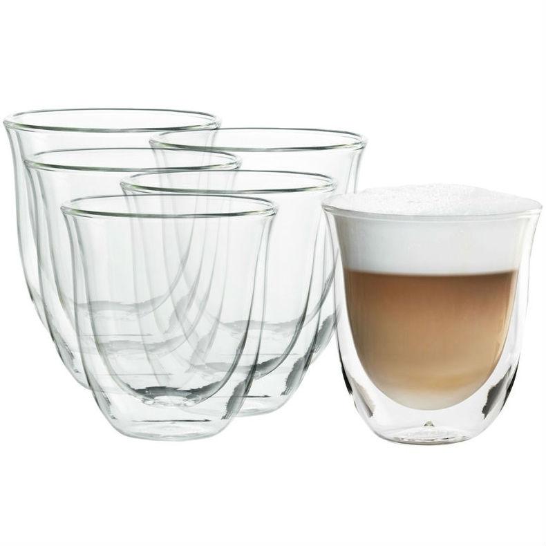 Стакан DELONGHI SET 6 GLASSES-CAPPUCCINO 190ML (5513296661) Тип стакан