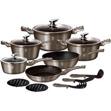 Набор посуды BERLINGER HAUS Carbon Metallic Line 15 пр (BH-1223N)