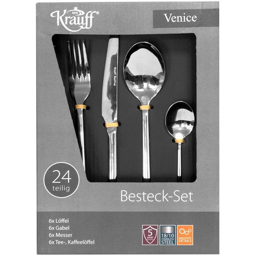 Столовый набор KRAUFF Venice 24 пр. (29-178-002) Материал нержавеющая сталь