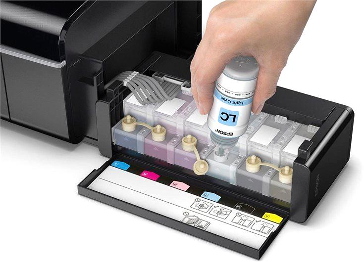 Принтер струйный EPSON L805 (C11CE86403) Максимальное качество печати 5760 х 1440