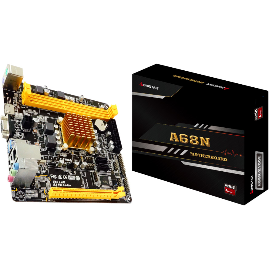 Материнская плата BIOSTAR A68N-2100E Слоты под оперативную память 2 x DDR3/DDR3L