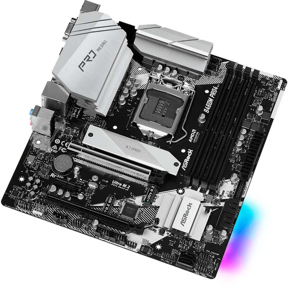 Материнская плата ASROCK B460M PRO4 Сокет Intel 1200