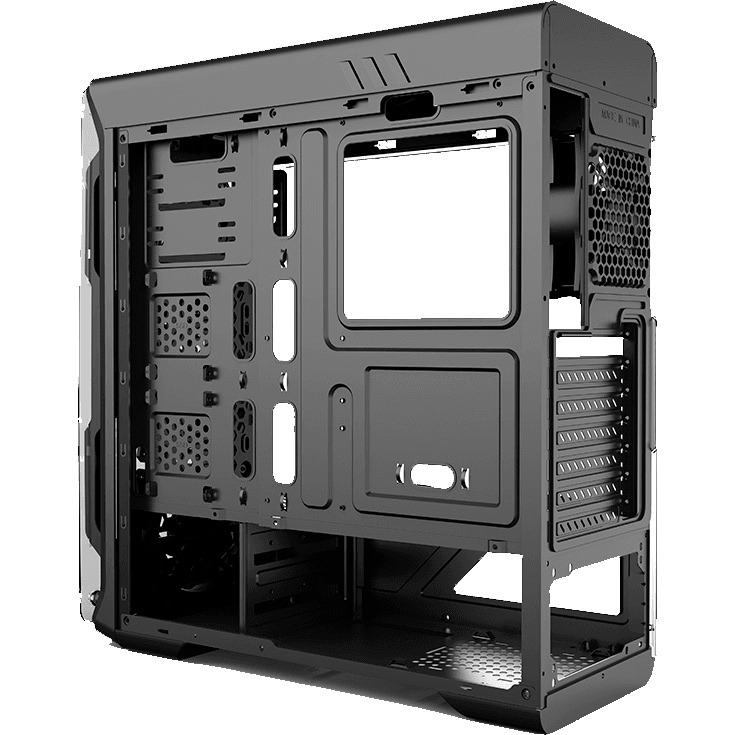 Корпус GAMEMAX Optical Black Назначение для настольного компьютера
