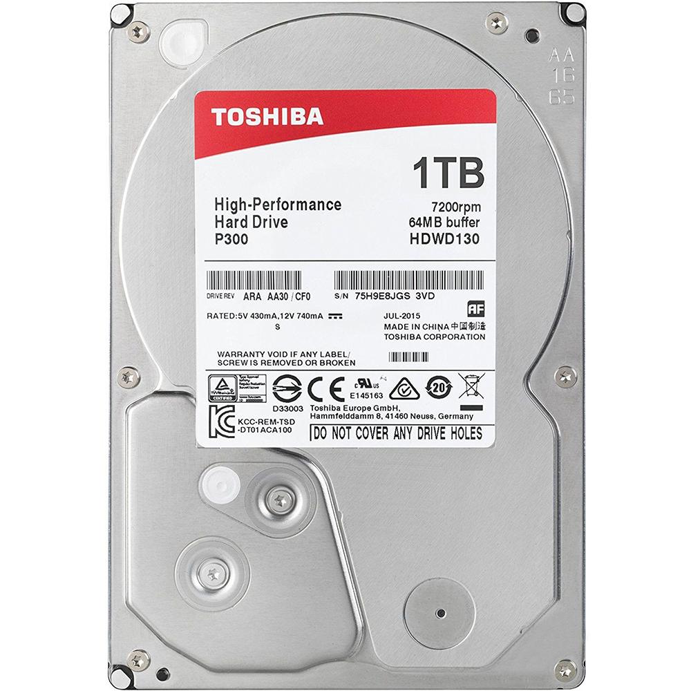 Жесткий диск TOSHIBA 1Tb 7200rpm 64Mb SATAIII P300 (HDWD110UZSVA)