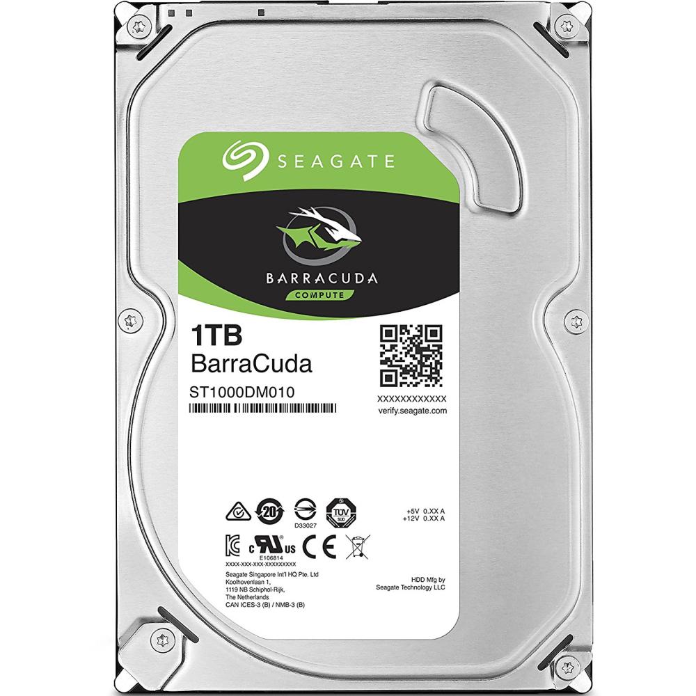 Жесткий диск SEAGATE 1TB 7200rpm 64Mb SATAIII (ST1000DM010)