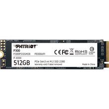 SSD накопитель PATRIOT P300 512GB M.2 NVMe 3D TLC (P300P512GM28)