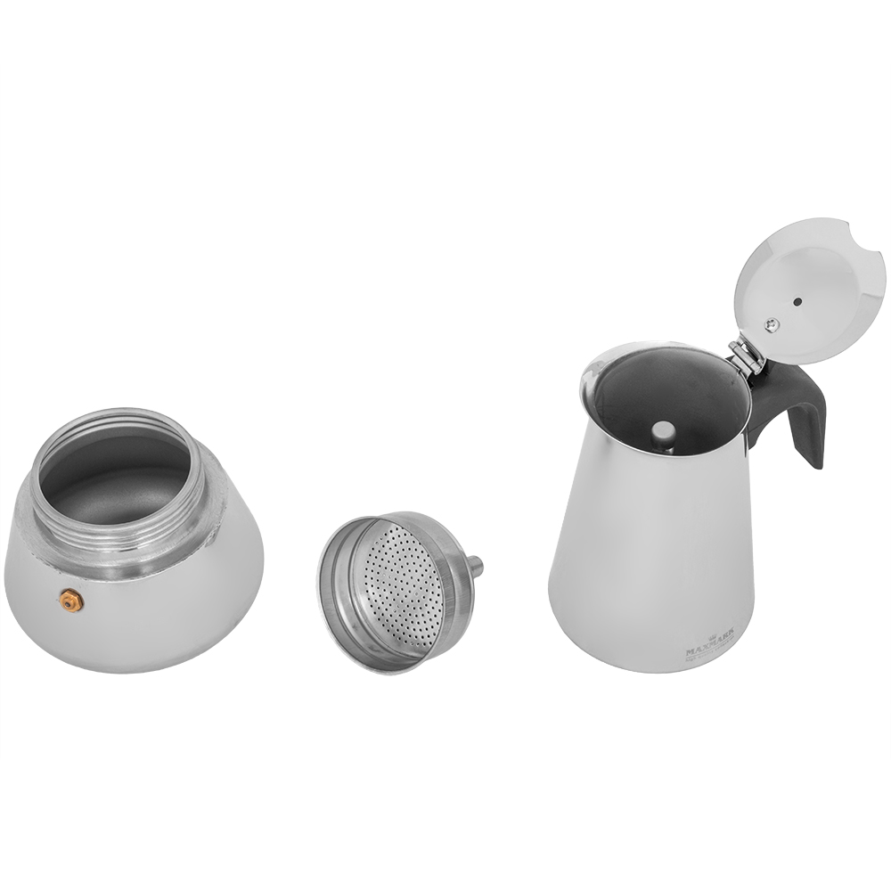 Гейзерная кофеварка MAXMARK MK-SV106 300 мл Материал нержавеющая сталь