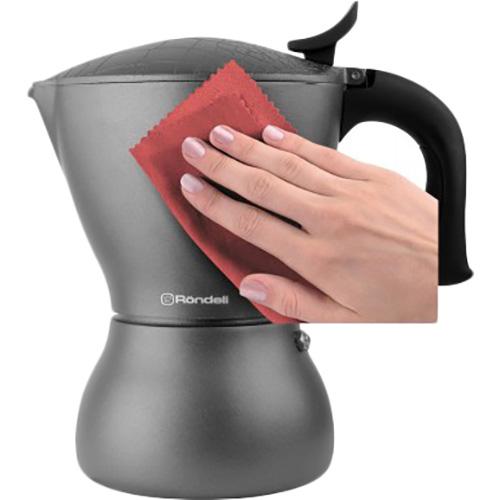 Гейзерная кофеварка RONDELL Escurion Grey 450 мл (RDA-1117) Объем 450