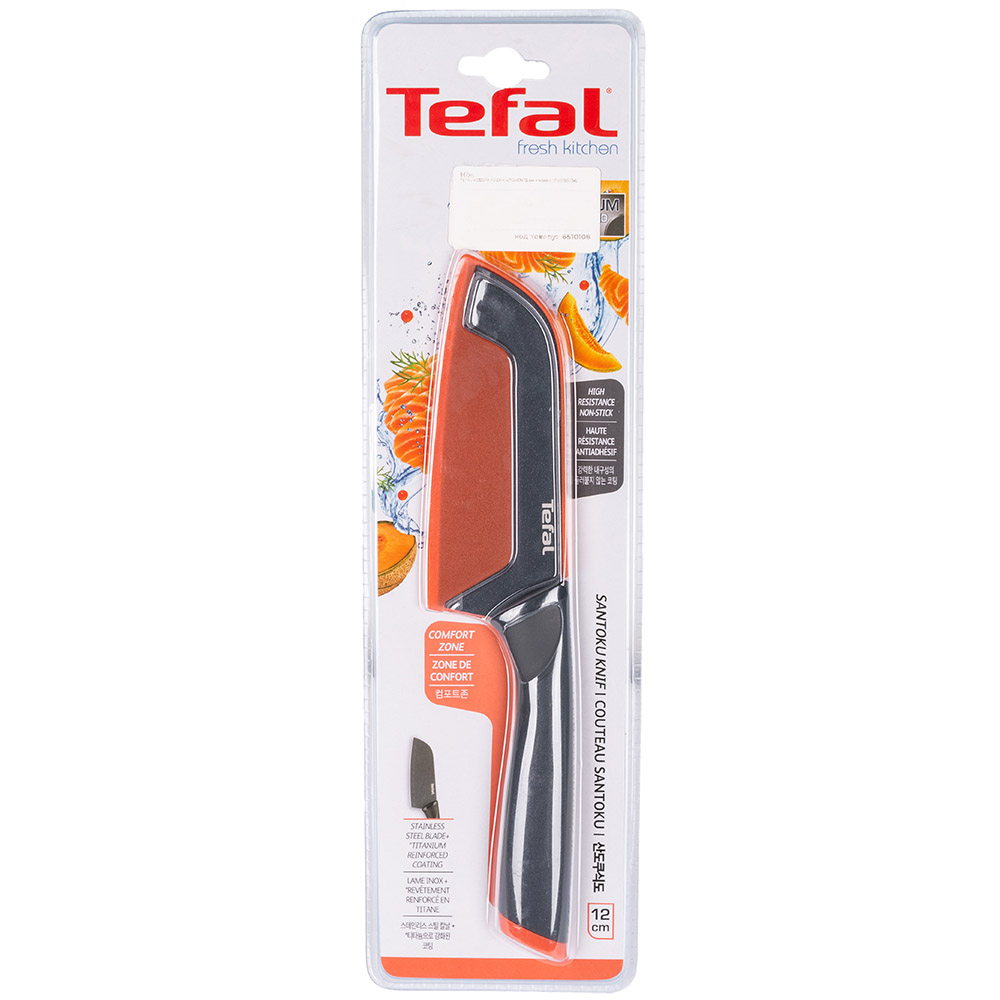 Нож TEFAL K1220114 FRESH KITCHEN 12 см + чехол (2100099034) Японские ножи сантоку (поварской)