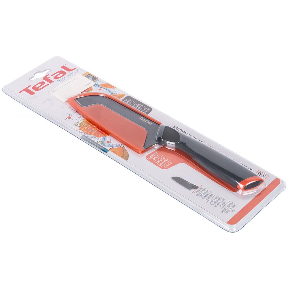 Нож TEFAL K1220114 FRESH KITCHEN 12 см + чехол (2100099034) Заточка двусторонняя
