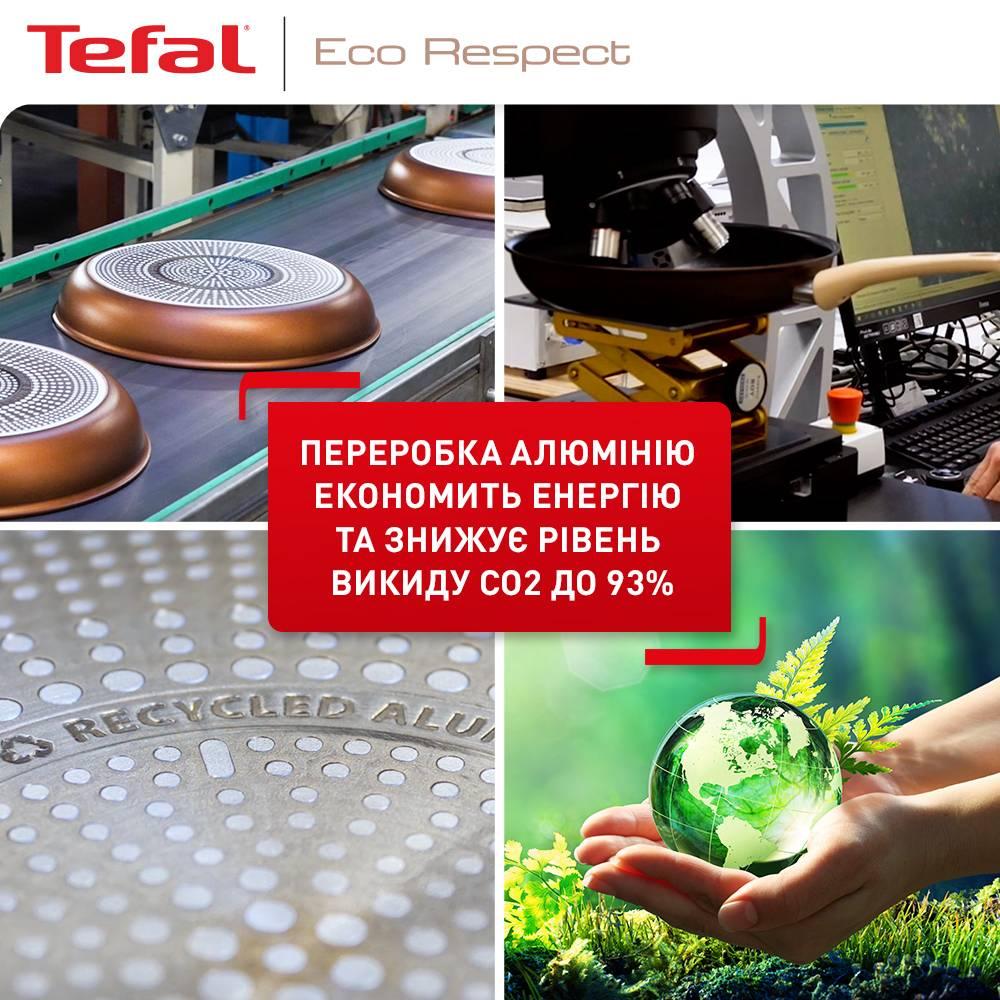 Сотейник TEFAL ECO RESPECT 24 см (G2543202) Особенности индикатор нагрева