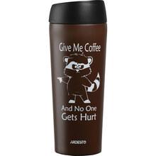 Термокружка ARDESTO Coffee time Raccoon 450 мл Brown (AR2645DML)