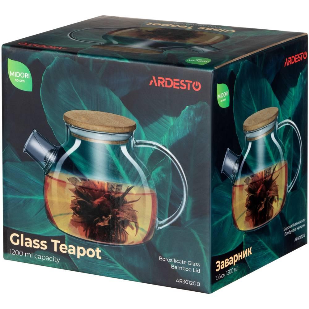 Заварник ARDESTO 1200 мл (AR3012GB) Термостойкое стекло True