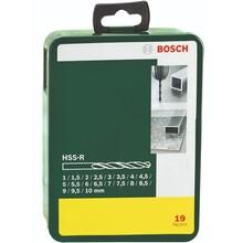 Набор сверл BOSCH HSS-R 1-10 ММ 19 шт (2.607.019.435)