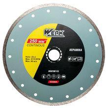 Алмазний диск WERK Ceramics 1A1R 250x7x25.4 (107497)