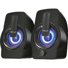 Колонки TRUST Gemi RGB 2.0 speaker set black (22948)