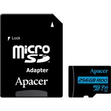 Карта памяти APACER microSDXC 256GB UHS-I (U3) V30 (AP256GMCSX10U7-R)