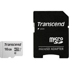 Карта памяти TRANSCEND microSDHC 16GB 300S UHS-I (U1) (TS16GUSD300S-A)