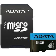 Карта памяти ADATA microSDXC 64GB C10 UHS-I (AUSDX64GUICL10-RA1)