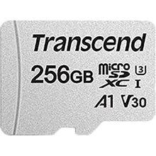 Карта памяти TRANSCEND microSDXC 300S 256GB UHS-I U3 + ad (TS256GUSD300S-A)