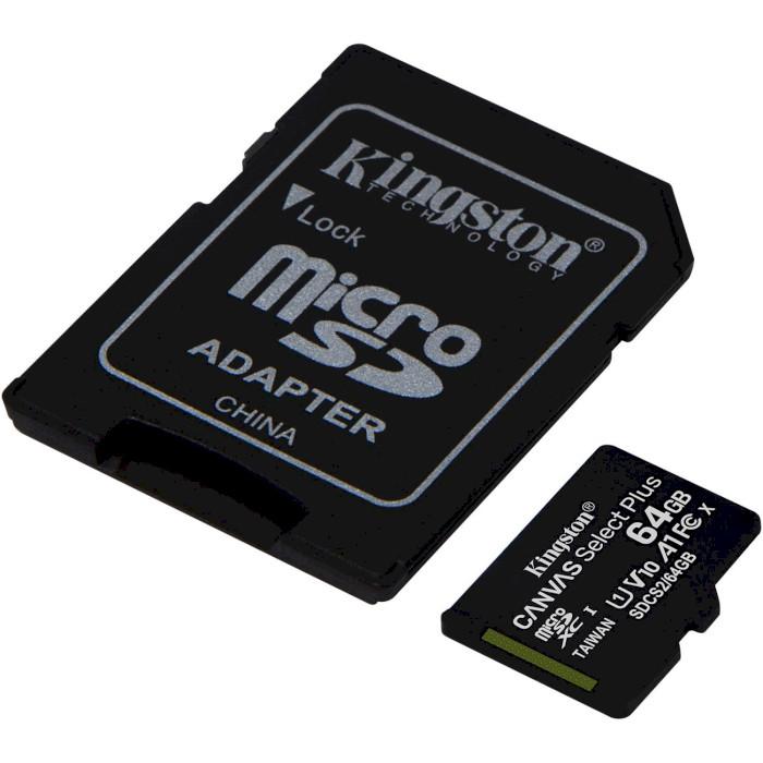 Карта памяти KINGSTON microSDXC 64Gb Canvas Select+ A1 UHS-I (U1) (SDCS2/64GB) Тип карты micro-SDXC