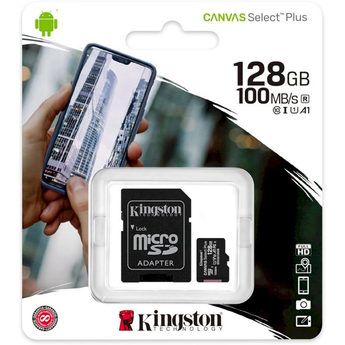 Карта памяти KINGSTON microSDXC 128Gb Canvas Select+ A1 UHS-I (U1) (SDCS2/128GB) Объём памяти 128 Гб