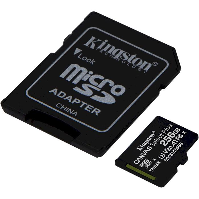 Карта памяти KINGSTON microSDXC 256Gb Canvas Select+ A1 UHS-I (U3) (SDCS2/256GB) Тип карты micro-SDXC