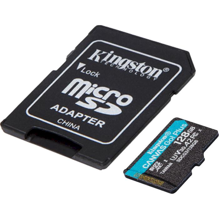 Карта памяти KINGSTON microSDXC 128Gb Canvas Go+Class 10 UHS-I U3 V30 + SD-adapter (SDCG3/128GB) Тип карты micro-SDXC