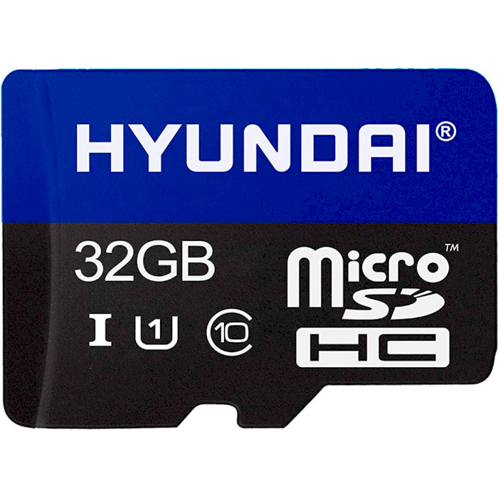 Карта памяти HYUNDAI microSDHC 32GB UHS-I Class 10 + SD-adapter (SDC32GU1) Объём памяти 32 Гб