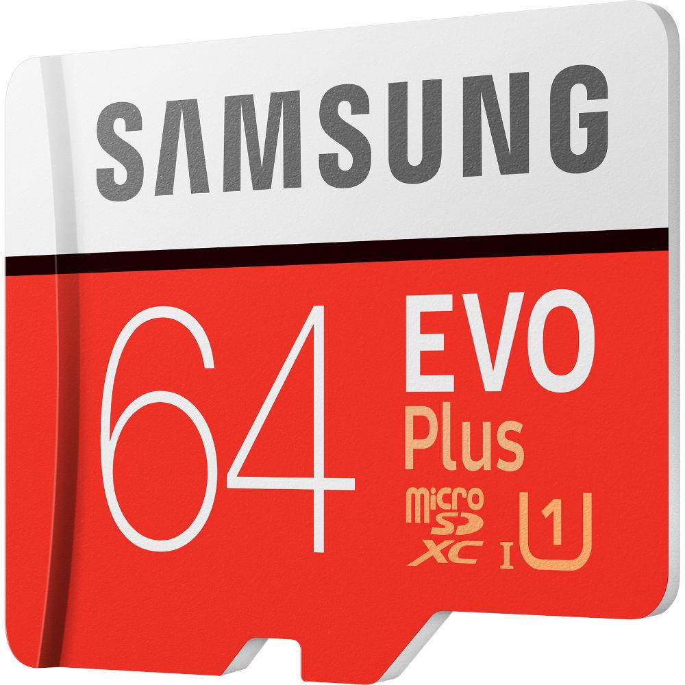 Карта памяти SAMSUNG microSDXC 64GB EVO PLUS UHS-I U1 (MB-MC64HA/RU) Тип карты micro-SDXC