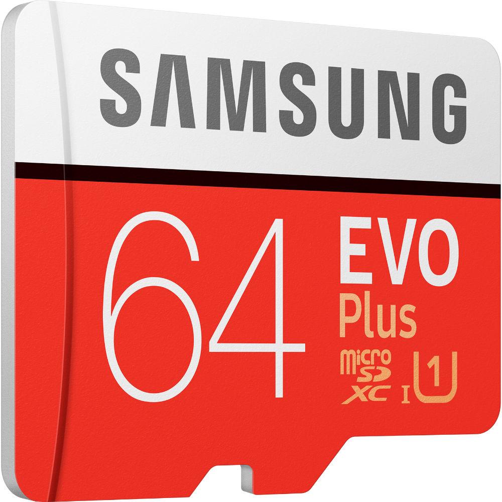 Карта памяти SAMSUNG microSDXC 64GB EVO PLUS UHS-I U1 (MB-MC64HA/RU) Объём памяти 64 Гб
