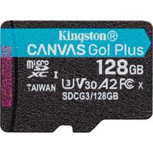 Карта памяти KINGSTON microSDXC 128GB Class 10 UHS-I U3 A2 (SDCG3/128GBSP)