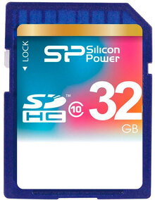 Карта памяти SILICON POWER SDHC 32GB Class 10 (SP032GBSDH010V10)